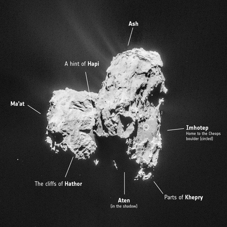 ESA_Rosetta_NavCam_20150226_Mosaic_Annotated