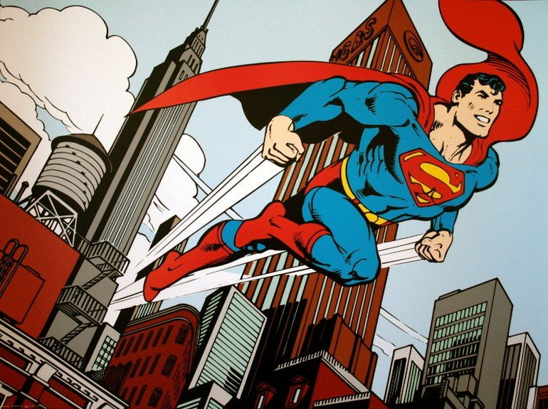 dccomics-superman-in-front-of-the-flat