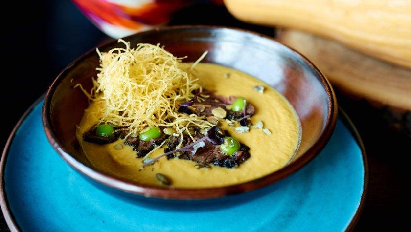 Тыквенный суп с ростбифом – 105 грн