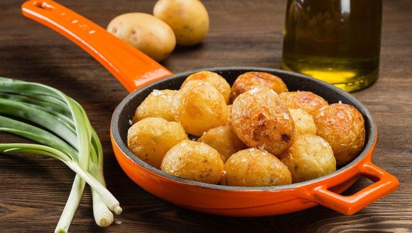 Жареный молодой картофель, 65 грн
