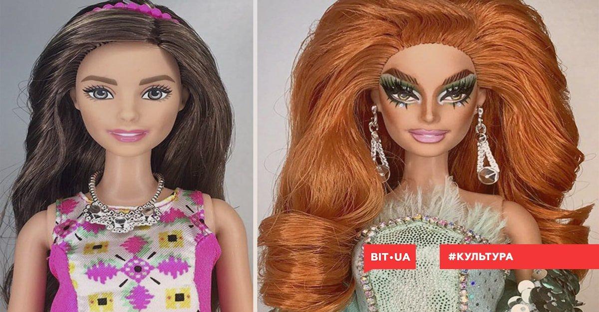 Визажист Марк Джонатан превращает кукол Барби в трансгендеров изоражения
