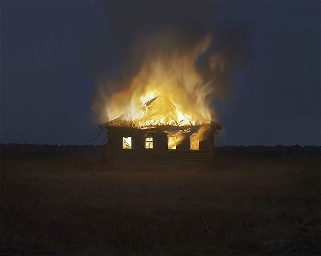 художник огонь деревня