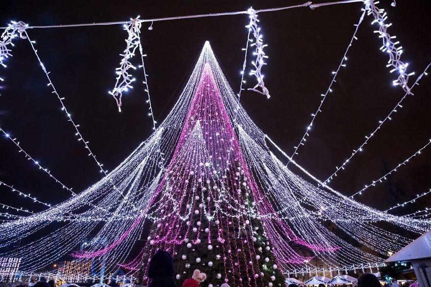 елка, рождество, вильнюс, литва, новый год,