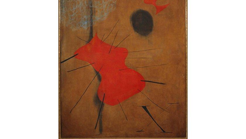 Жоан Миро. Красное пятно, 1925