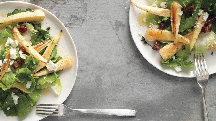 Блюда с пастернаком. Теплый салат