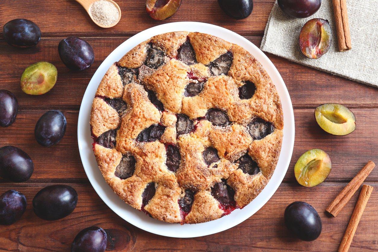 сливовий пиріг рецепт
